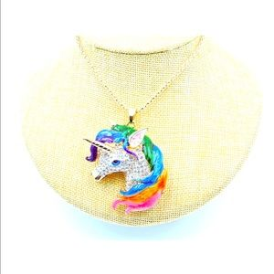 Crystal colorful 🦄 unicorn necklace